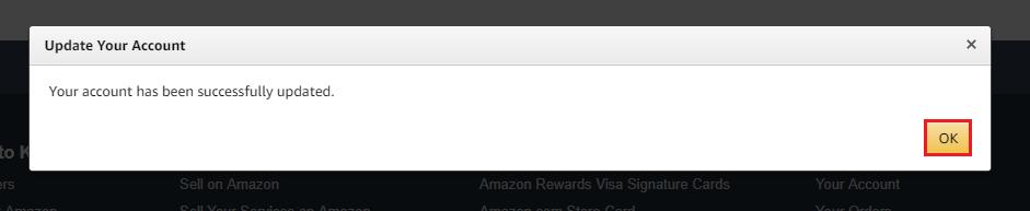 アメリカAmazonクレジットカード登録完了
