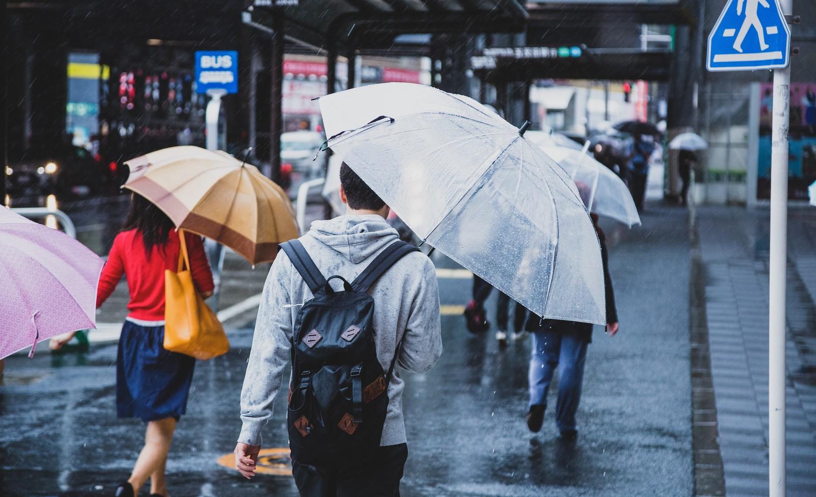 雨の中自転車で走ることはない